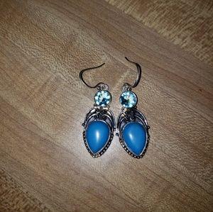 New blue quartz earrings